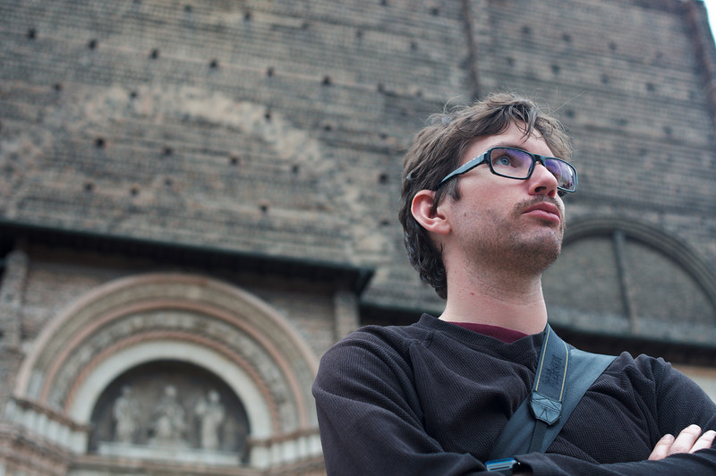 Yann in front of the Basilica of San Petronio.