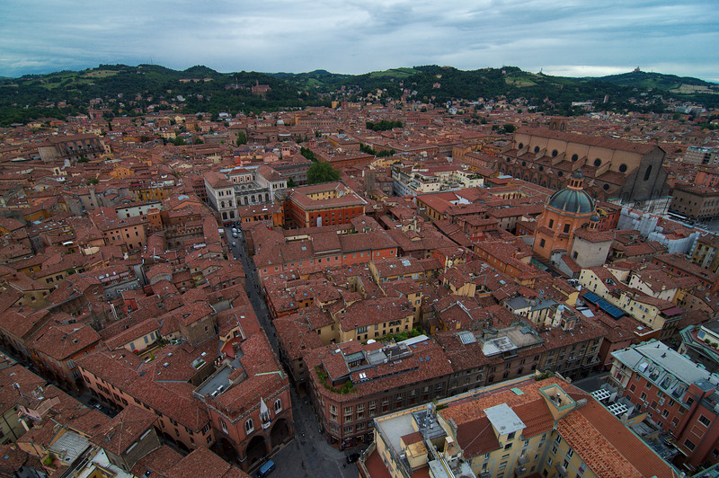 View of Bologna from one of the Towers of Bologna.