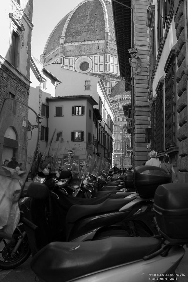 Bikes outside of Duomo