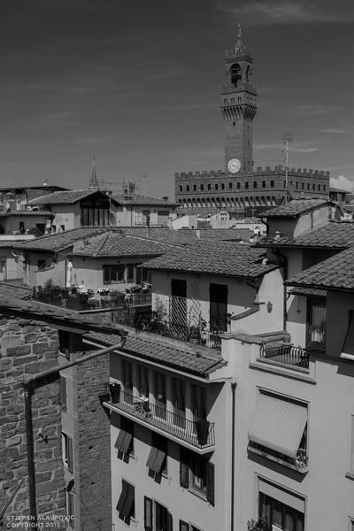 Overlooking Piazza della Signoria