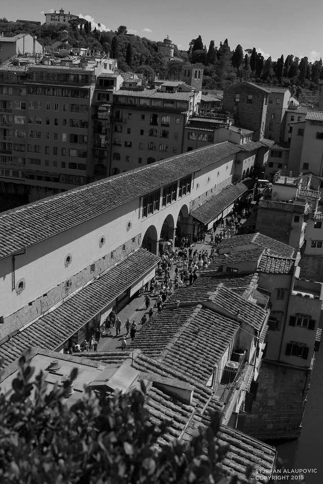 Overlooking the Ponte Vecchio