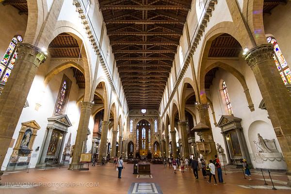Basilica of Santa Croce interior, Florence