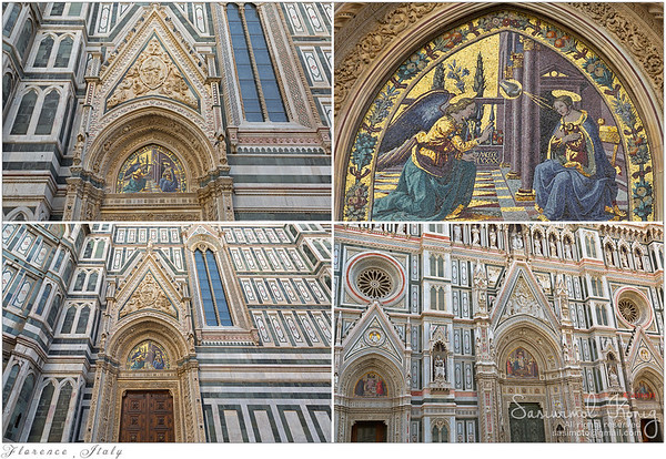 Mosaic of the Annunciation above Almond door of Florence Cathedral