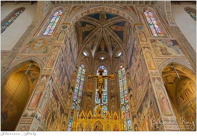 Holy Cross church in Florence, Italy (Basilica di Santa Croce)