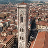 View on Campanile and Florence from Duomo