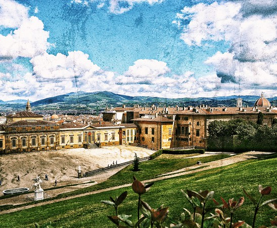 """As if...A Postcard from Boboli - circa 1906"" - Florence"