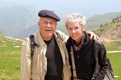Dick & Joyce on Monte Baldo