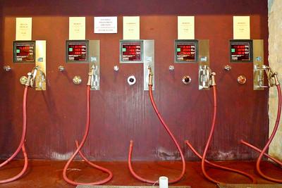 Wine filling station at Toblino Winery