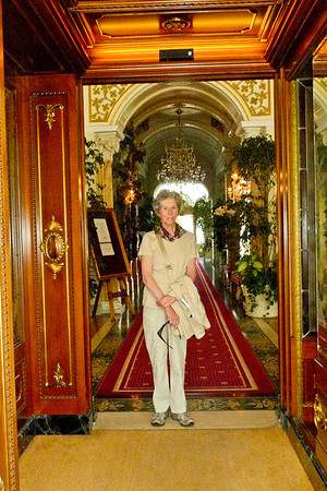 Joyce at the Grand Hotel del Iles Borromees in Stressa