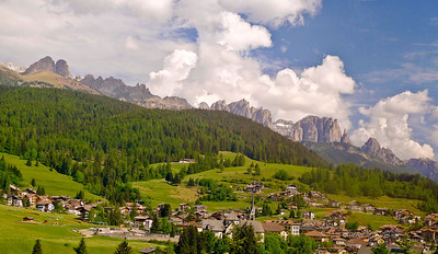 On the way up to the Dolomites