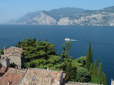View from Scaligero Castle in Malcesine