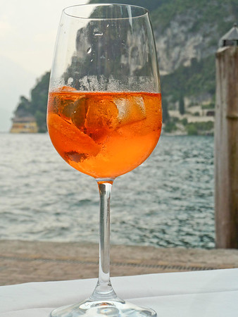 Enjoying a spritz in Riva del Garda
