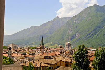 View from Buonconsiglio Castle in Trento