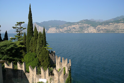 View from Scaligero Castle in Malcesine