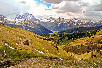 Sella Pass in the Dolomites