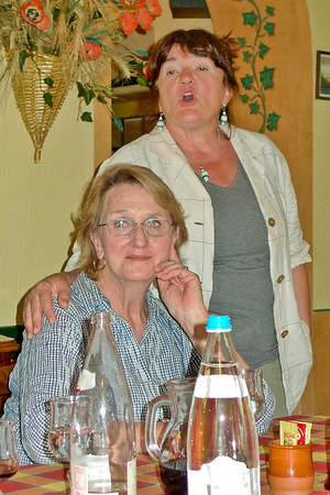 Marcia and Mara in Tratoria Cacciatore