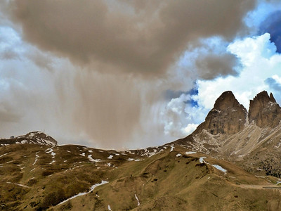 Storm over the Sella Pass in northern Italy.