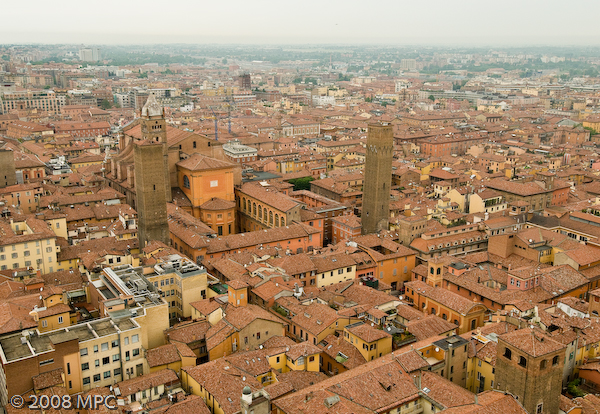 City of Bologna from the Tower
