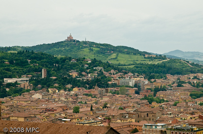 Bologna and surrounding countryside