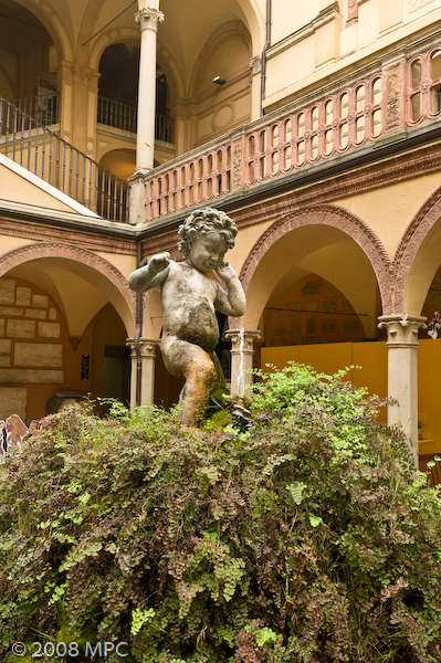 In the courtyard of the Museo Civico