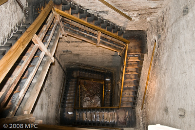 The stairs to the top of the Tower