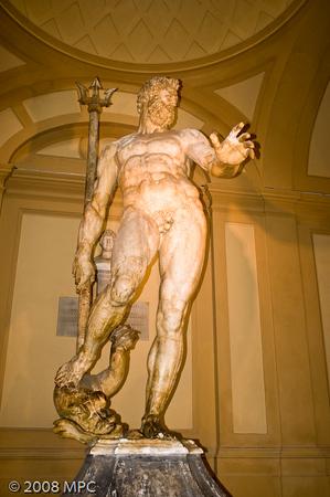 Neptune statue in the Museo Civico