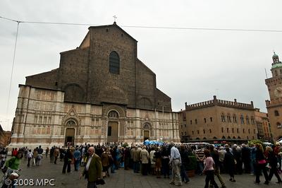 The church of San Petronio in Piazza Maggiore
