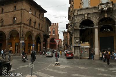 Streets near the Torre degli Asinelli