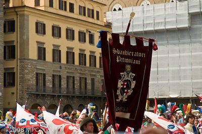 A celebration in the Piazza della Signora