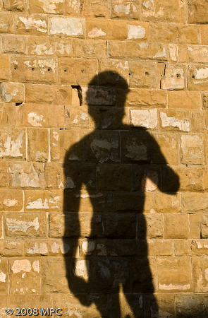 The shadow of the David