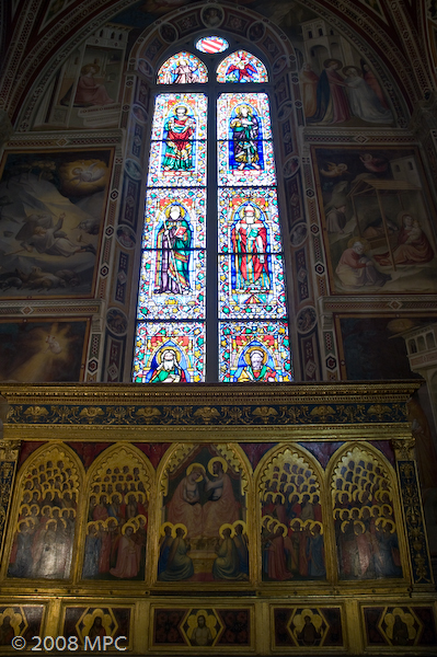 Stained glass window in Santa Croce