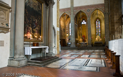 an alter inside Santa Croce