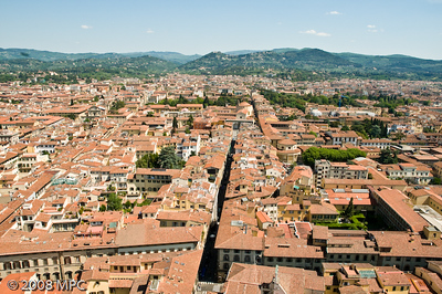 Florence from the top of the Duomo