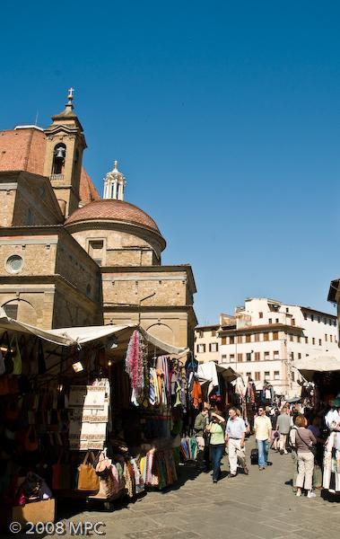 The Duomo from the Mercato in San Lorenzo