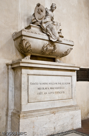 The tomb of Niccolo Machiavelli