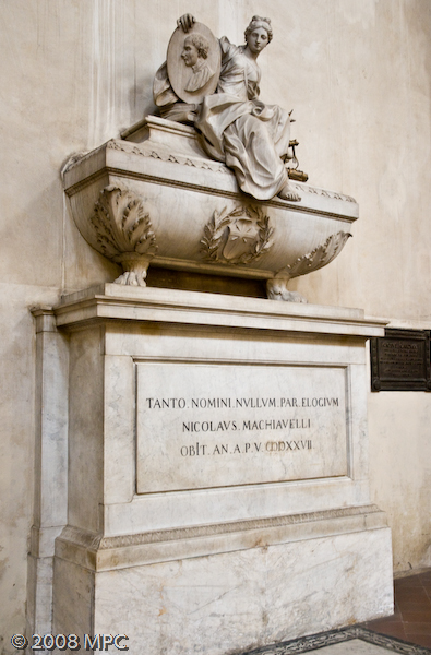 The tomb of Niccolo Machiavelli