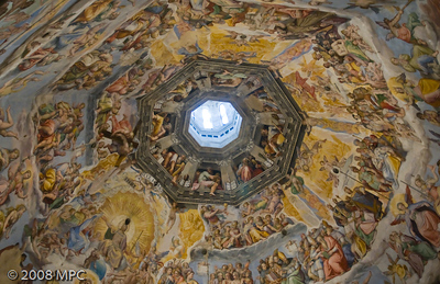 The dome of the Duomo from inside