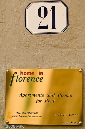 Where we stayed while in Florence