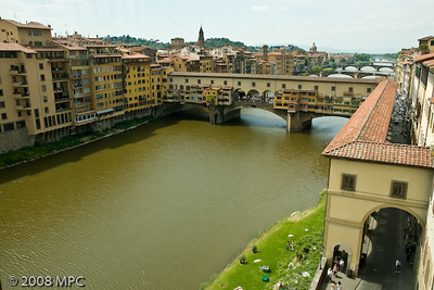 The Ponte Vecchio taken from the Uffizi