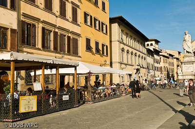 A cafe in Florence