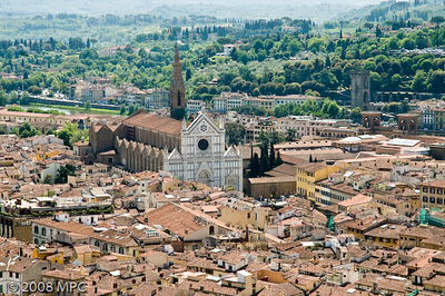 Santa Croce church, taken from the top of the Duomo