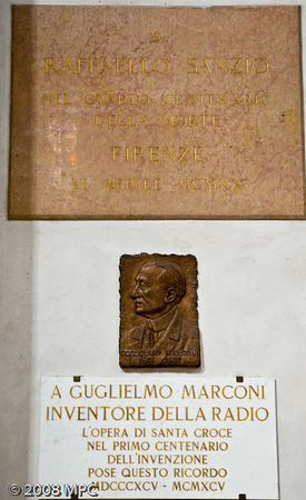 The tomb of Guglielmo Marconi - the inventor of the radio