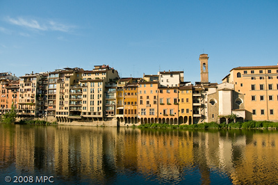 The banks of the Arno River