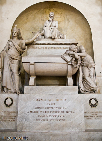 Memorial of Dante Aligheri.  He is actually buried in Ravenna.