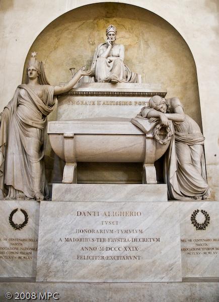 Memorial of Dante Aligheri.  He is actually buried in Ravenna.