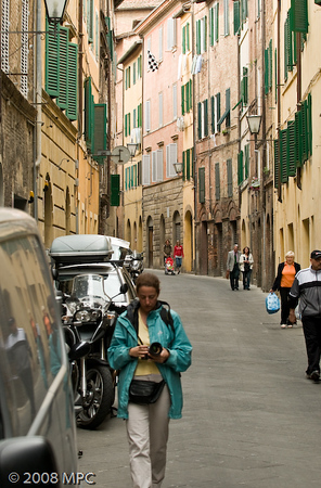 Wondering the streets of Siena