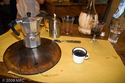 And then the espresso