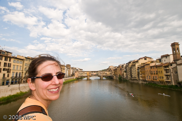 The Ponte Vecchio and the Arno in Florence