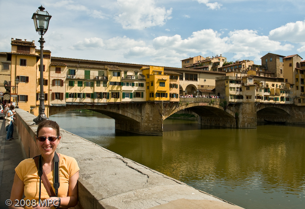 The Arno River and the Ponte Vecchio in Florence