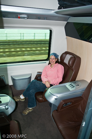On the train from Venice to Rome